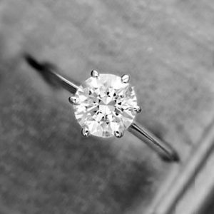 Gorgeous 3.00 CT Big Round White Diamond Solitaire Pretty Engagement Ring Solid 10K White Gold