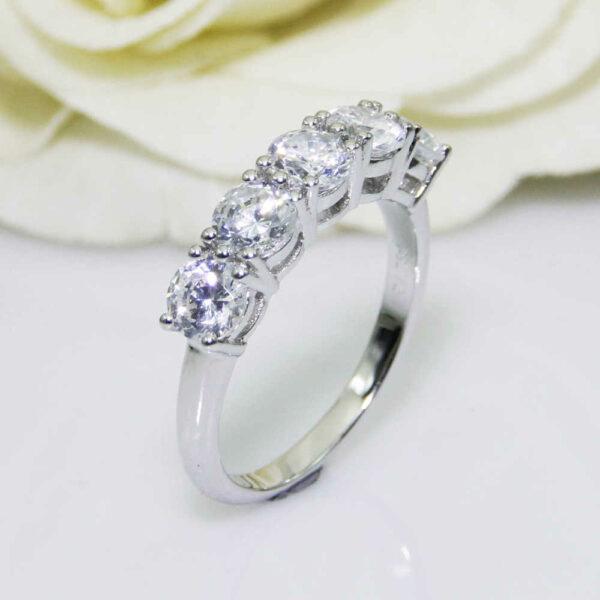 7-Stone Brilliant Cut 1.80 Ctw Diamond Wedding & Engagement Ring 14k Gold Plated
