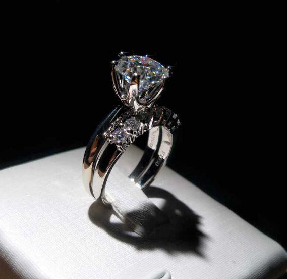 2.50 Carat Solitaire Brilliant Cut Diamond Engagement Ring Bridal Set 14k White Gold