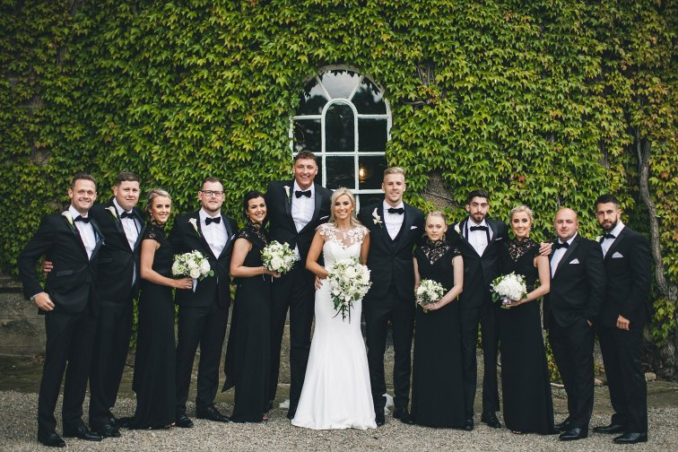 A Black Tie Wedding at Swinton Park (c) M&G Photography (36)