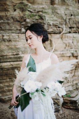 A Contemporary Coastal Bridal Shoot at Marsden Rock (c) Leanne Elizabeth Photography (15)