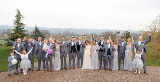 Kenneth Winston for a chic wedding at Yorkshire Wedding Barn (c) Michael Wilkinson Photography (12)