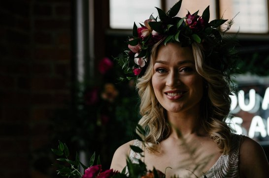 An Urban Styled Bridal Shoot at The Biscuit Factory (c) Dan McCourt (8)
