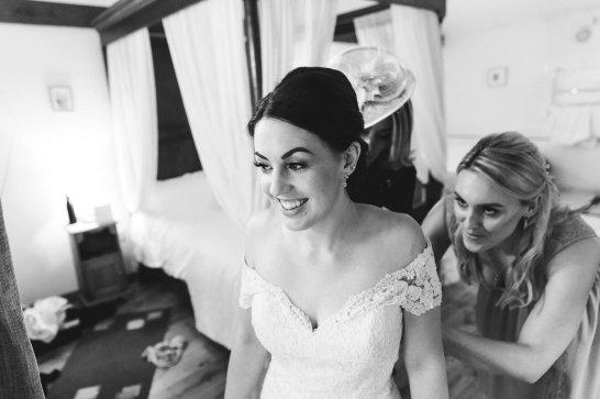 A Pronovias Wedding Dress for a Rustic Barn Wedding at Sandburn Hall (c) Hayley Baxter Photography (22)