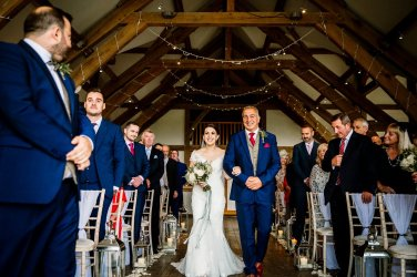 A Pronovias Wedding Dress for a Rustic Barn Wedding at Sandburn Hall (c) Hayley Baxter Photography (41)