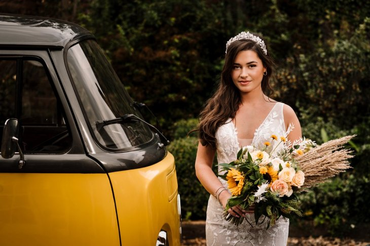 Campervan Wedding Shoot at Burton Manor wit Bellissima Brides (c) Madison Picture (1)