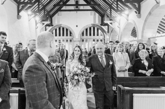 Pronovias Wedding Dress for a Winter Wedding at Mitton Hall (c) Kieran Bellis Photography for Brides Up North (22)