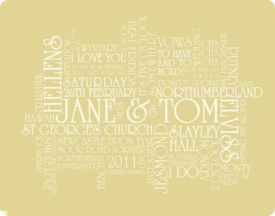 Congratulations Jane and Tom
