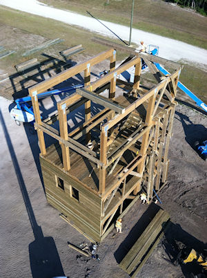 Observation and Rappelling Tower Construction