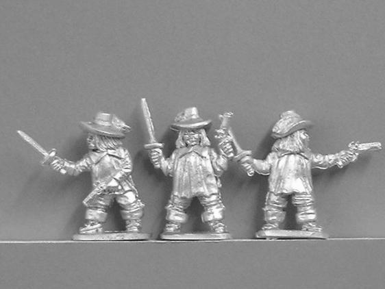 Musketeers with Swords & Pistols