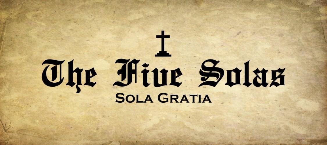 The Five Solas Banner (Gratia)