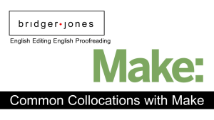 English collocations with make