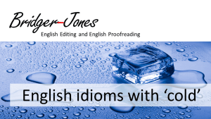 English idioms with cold meanings and example sentences