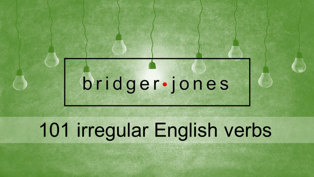A list of irregular English verbs