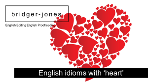 Idiomatic phrases and expressions with the word heart