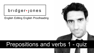 Prepositions and verbs quiz
