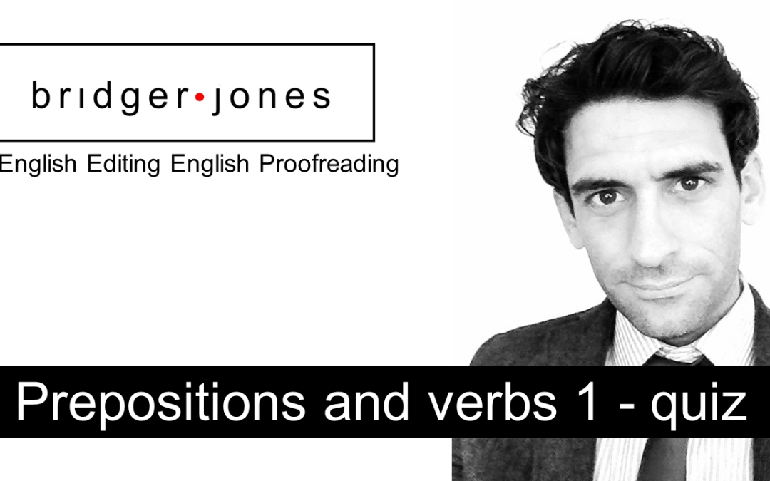 Prepositions and verbs 1