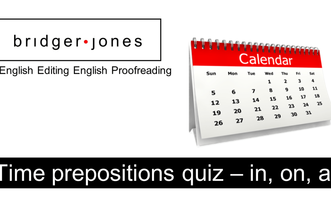 How well can you use time prepositions?