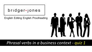 phrasal verb exercise