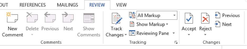 Review Track Changes
