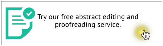 Free abstract editing and proofreading - no registration required