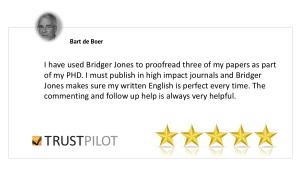 bridger-jones editing and proofreading review Bart