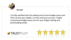 bridger-jones editing and proofreading review Tuya