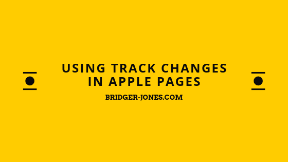 Using Track Changes in Apple Pages