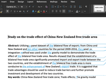 Editing and proofreading in Microsoft Word