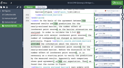 Editing and proofreading in Overleaf