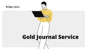 The Bridger Jones Gold Journal Service