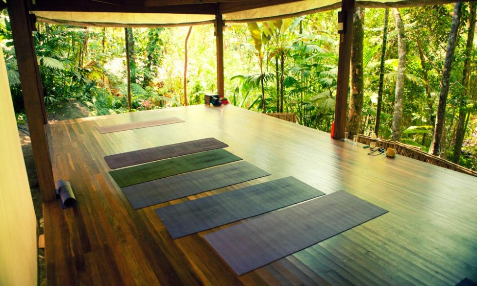 The lovely yoga platform at Sea and Forest