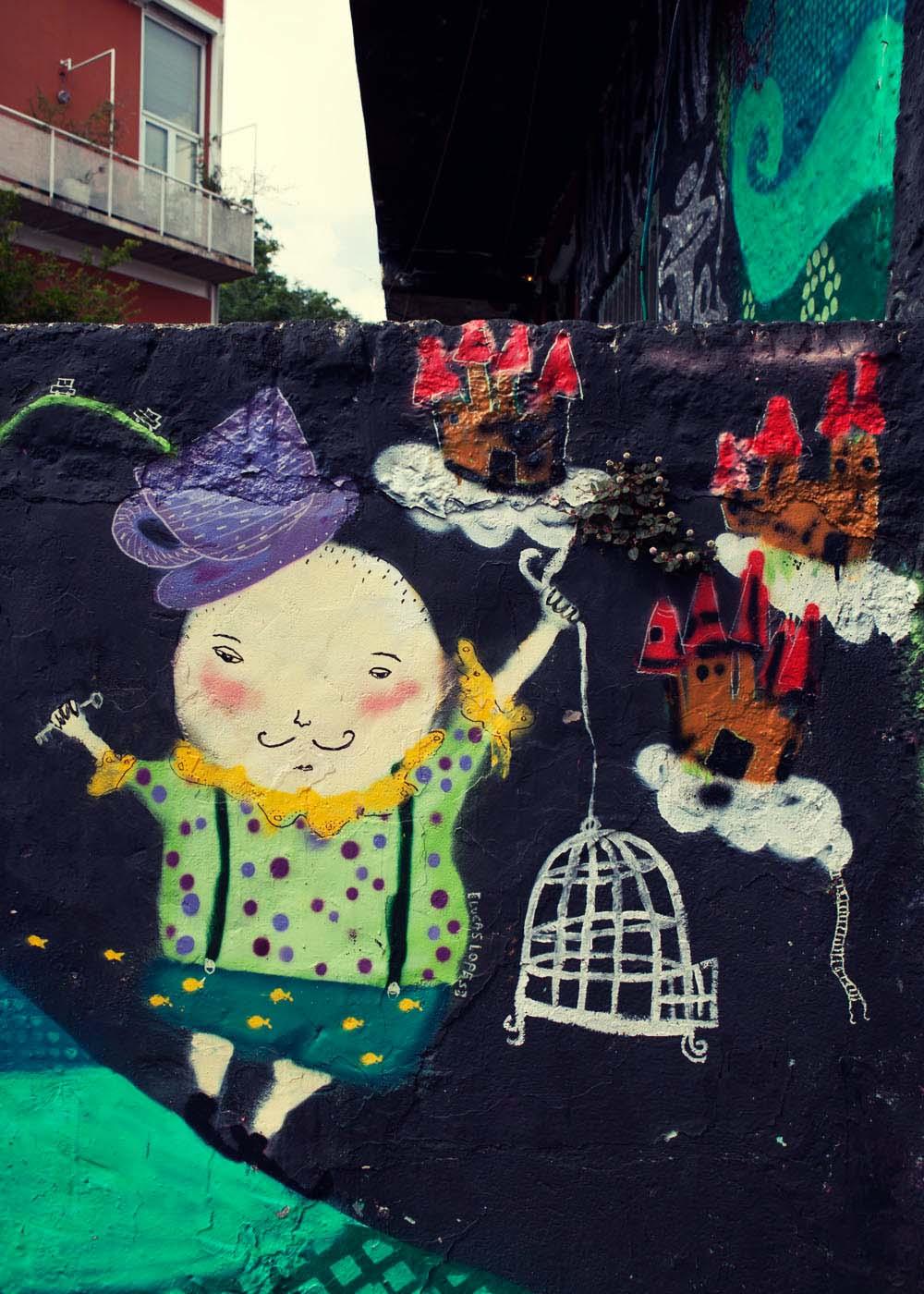 Wildman and the birdcage graffiti brazil