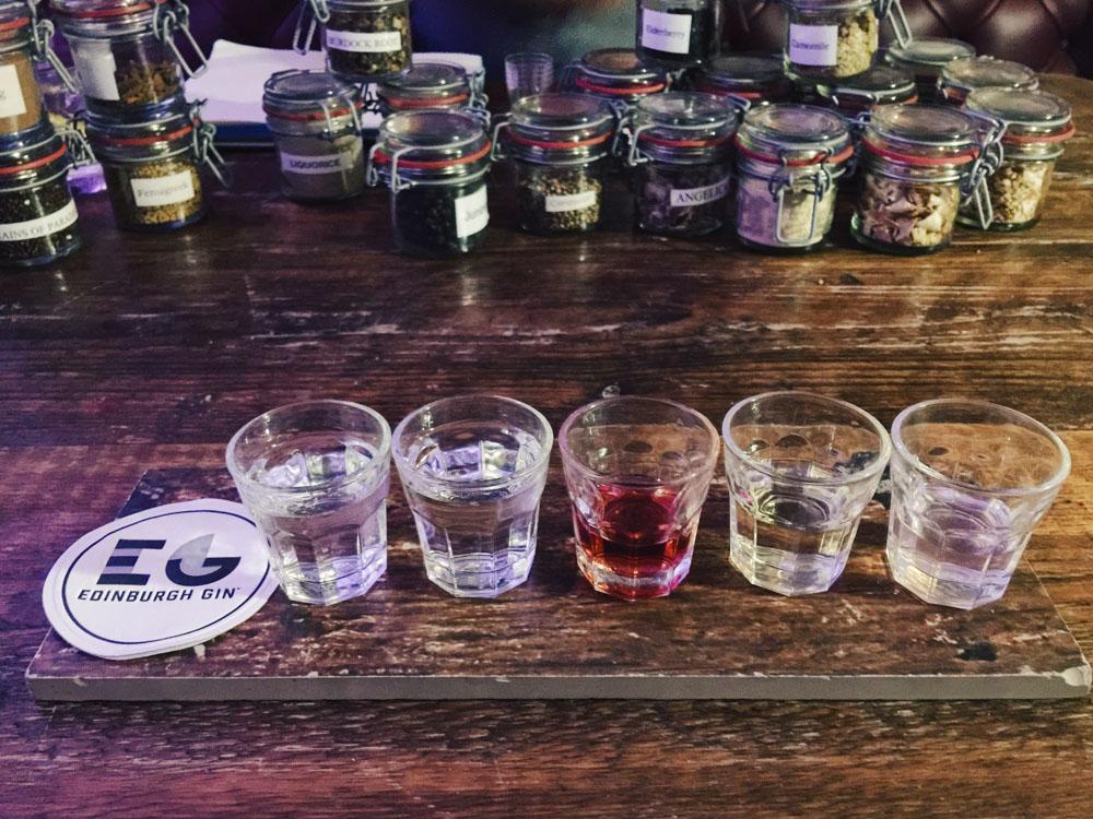 Edinburgh Gin Experience - tasting