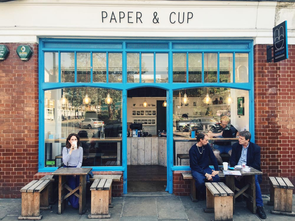 London Instagrammable shopfronts - Paper and Cup