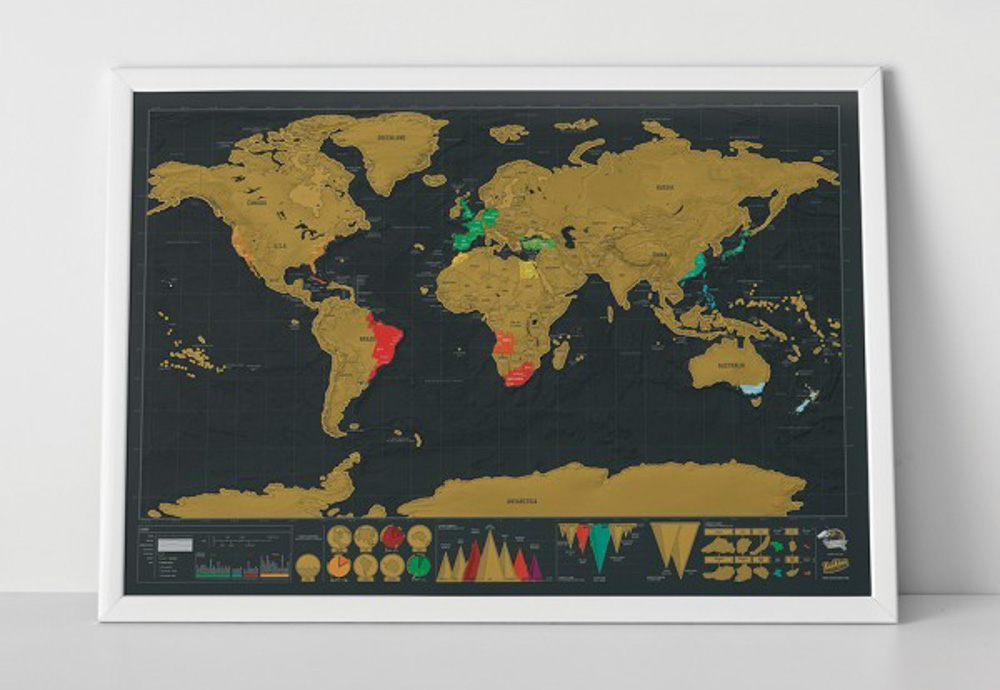 Christmas travel gift guide - scratch map