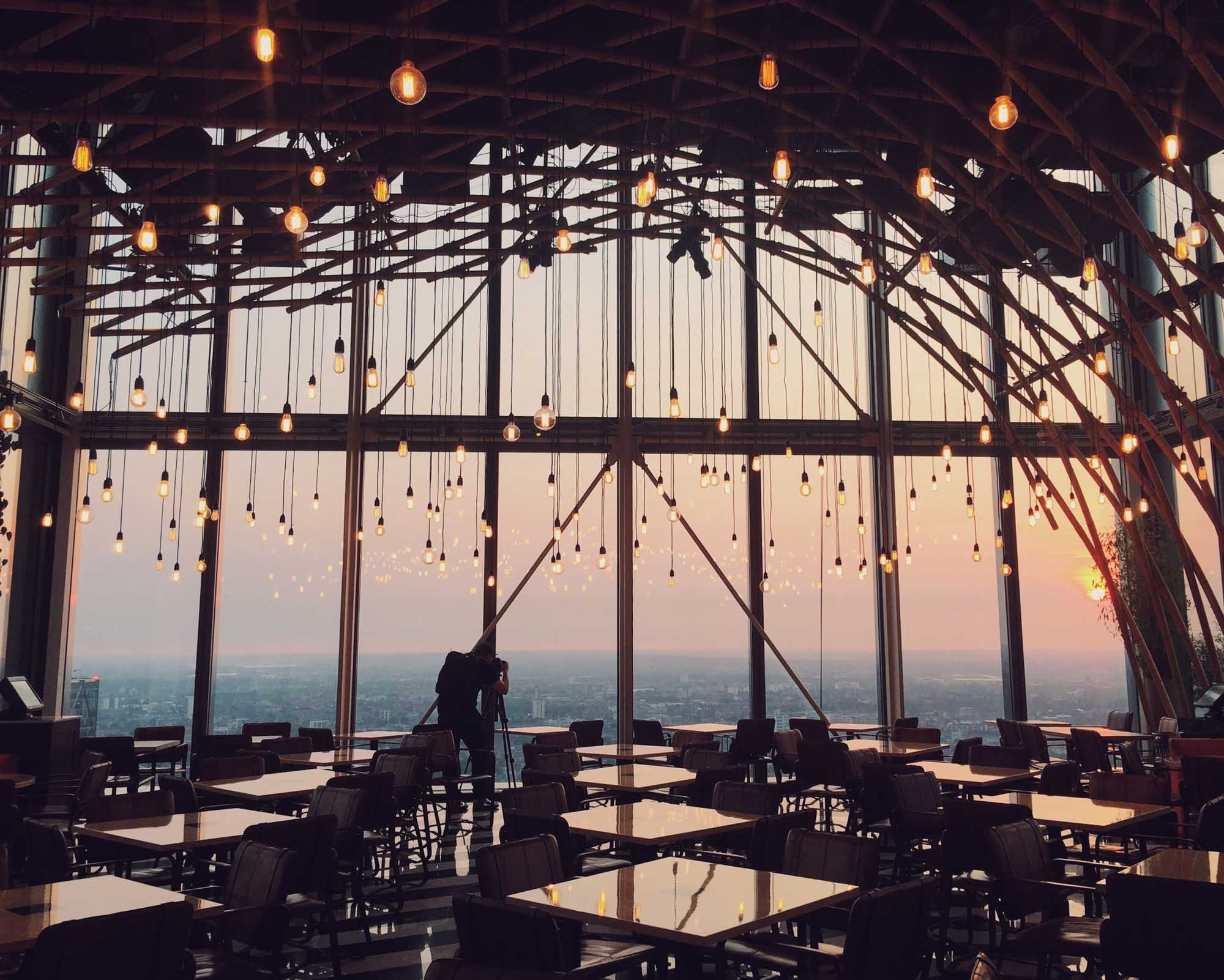 Best views in London - Duck and Waffle