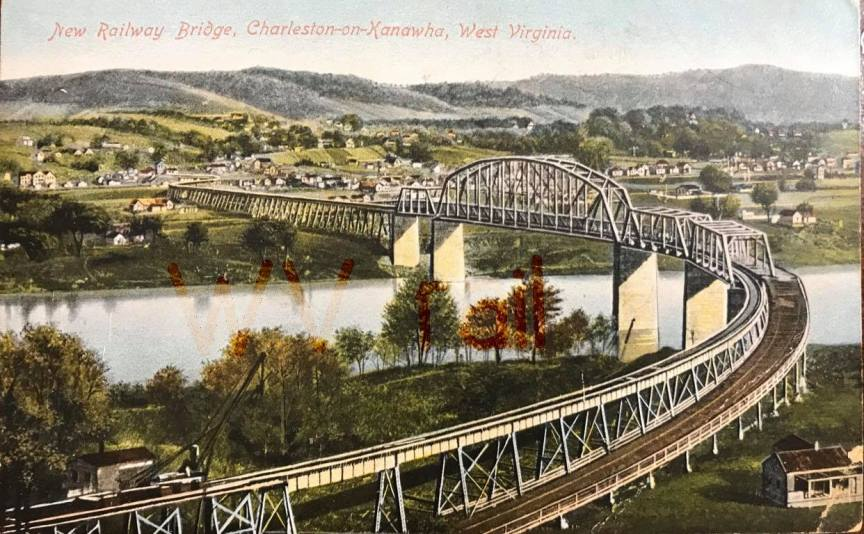 Charleston Railroad Bridge Postcard