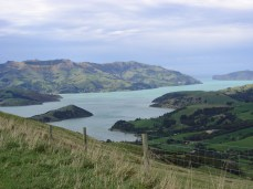 Akaroa in the distance