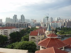 View from out hotel balcony
