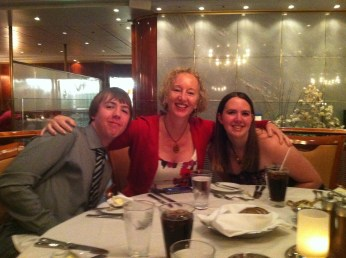 Aunty Debbie with Cameron and Chelsey