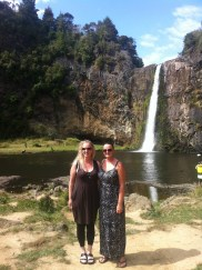 Debbie and Courtney at Hunua Falls