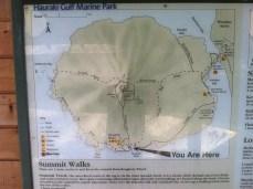 Map of Rangitoto Island