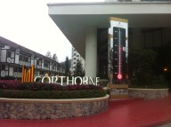 Our hotel at a cool 18 degrees