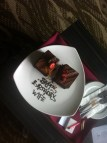 Debbie's birthday cake from the hotel staff