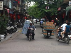 White van drivers Hanoi style