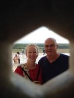 Through the peep hole at Taj Mahal