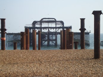 What is left of West Pier