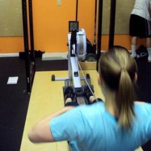 Girl Erg CrossFit Football