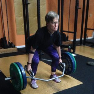 Stephanie Hex Bar Deadlift at Bridgetown CrossFit in Portland OR for structured Strength and Conditioning Workout